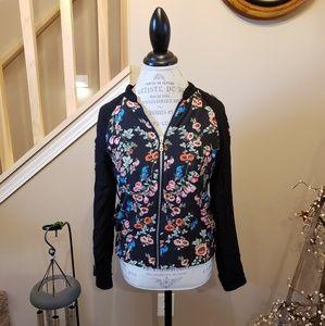AGB Floral Zipper Thin Jacket